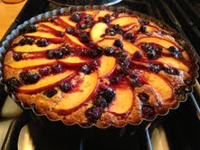 Peach-Blueberry Almond Cake