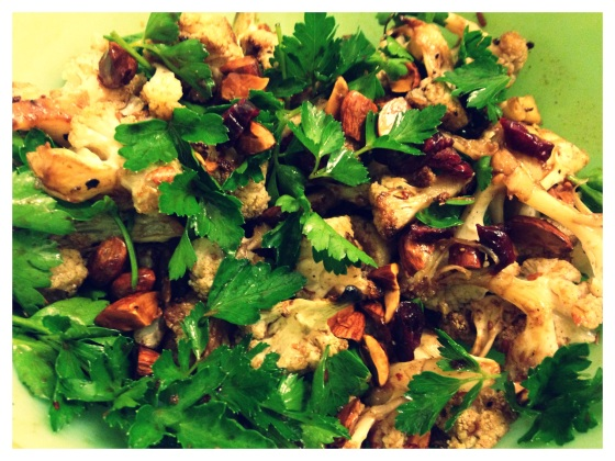 Roasted Cauliflower Salad with Pomegranate Molasses