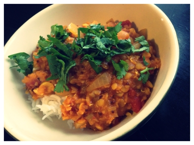 Red Lentil Dal with Tomatoes