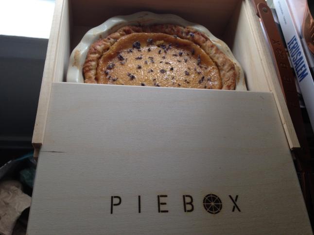 Lavender Honey Custard Pie