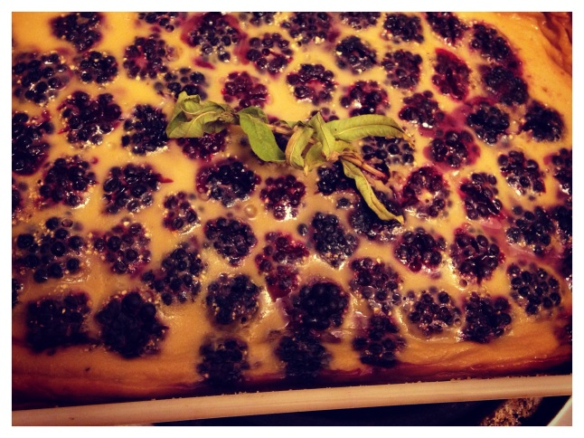 Honey Cornmeal and Lemon Verbena Clafoutis