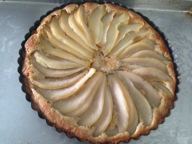 That Delectable Poached Pear and Almond Tart